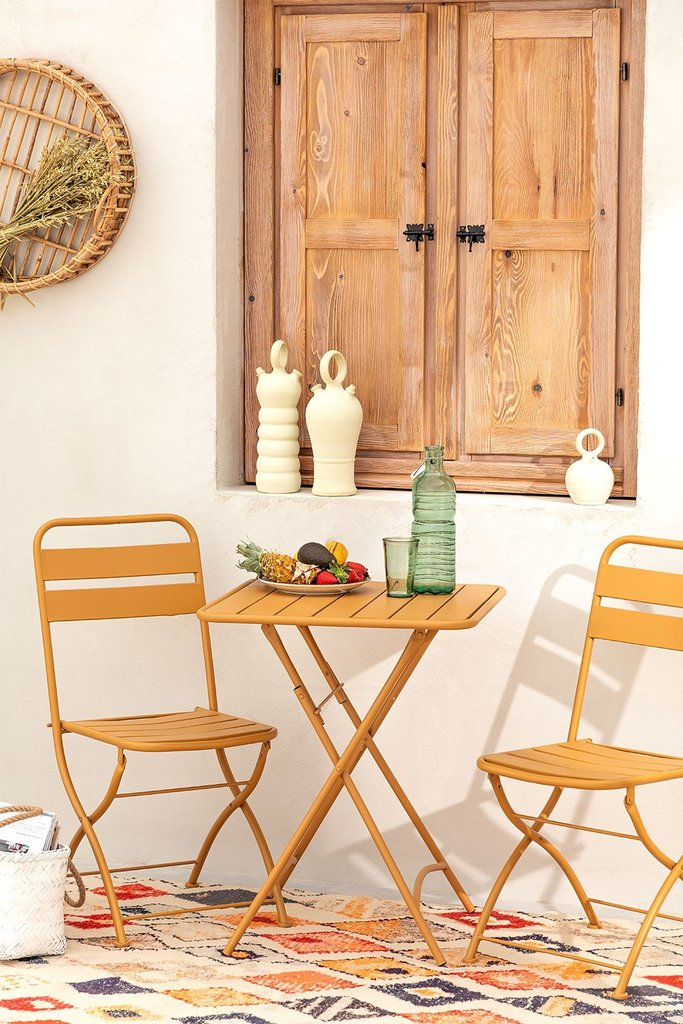 Garden  Set  Foldable Table (60x60 cm) & 2 Foldable Chairs Janti , gallery image 1
