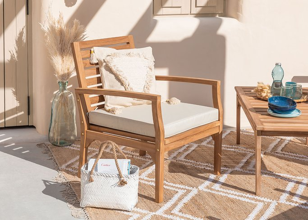 Garden Armchair in Teak Wood Adira, gallery image 1