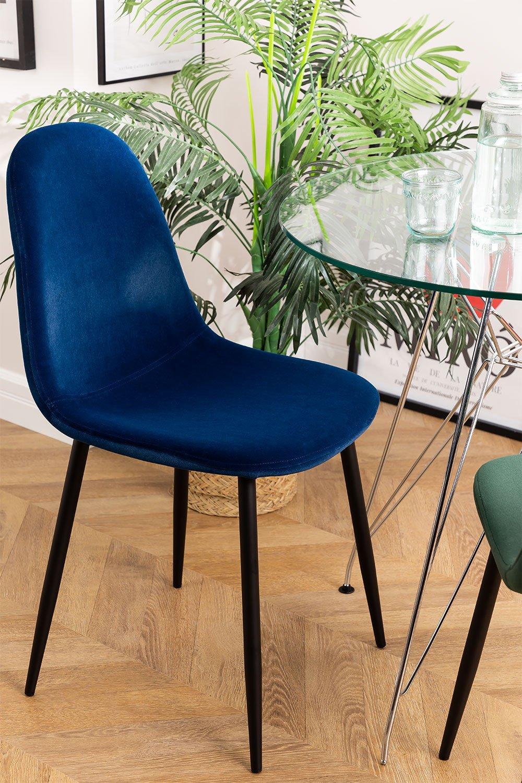PACK of 2 Glamm Velvet Chair, gallery image 1