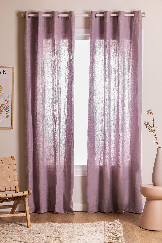 Linen Curtain (140x260 cm) Widni, gallery image 1