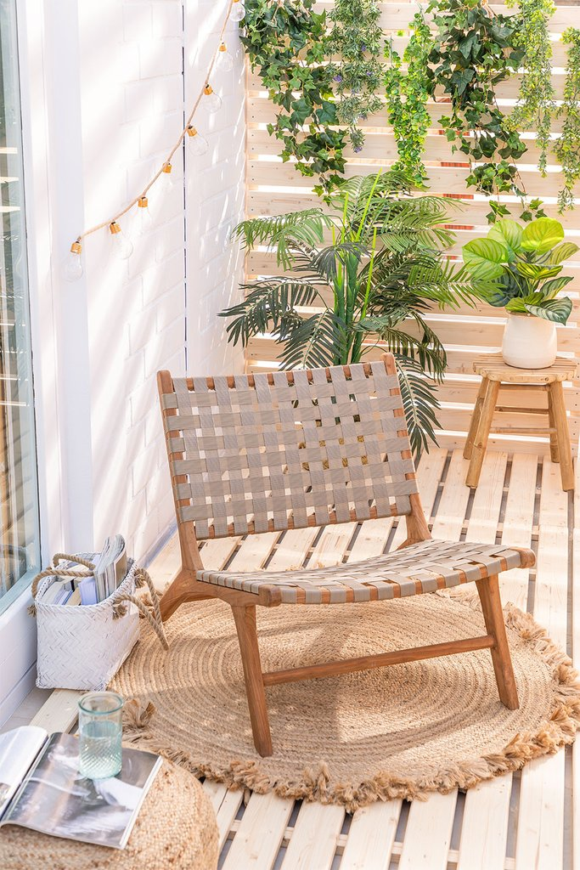 Garden Chair in Teak Wood Diama, gallery image 1